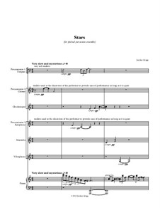 Stars (for pitched percussion ensemble): Stars (for pitched percussion ensemble) by Jordan Grigg