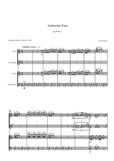 Suite Nr.2, Op.55: Arabian Dance, for oboe, cor anglais, violin and double bass by Edvard Grieg