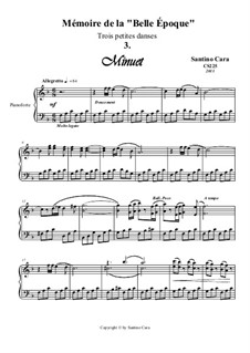Trois petites danses pour piano, CS225: Danse No.3 by Santino Cara
