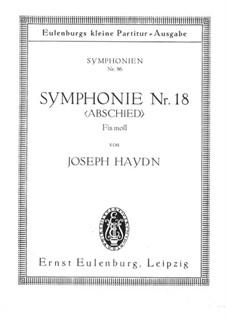 Sinfonie Nr.45 in fis-Moll 'Abschied', Hob.I/45: Vollpartitur by Joseph Haydn