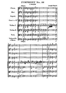 Sinfonie Nr.88 in G-Dur, Hob.I/88: Teil I by Joseph Haydn