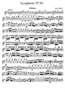 Sinfonie Nr.88 in G-Dur, Hob.I/88: Flötenstimme by Joseph Haydn