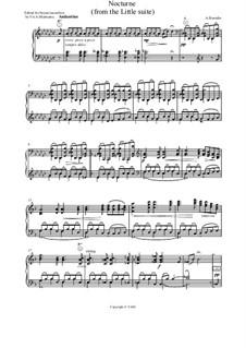 Kleine Suite: Nocturne, for accordion (or bayan) by Alexander Porfiryevich Borodin