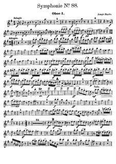 Sinfonie Nr.88 in G-Dur, Hob.I/88: Oboenstimme I by Joseph Haydn