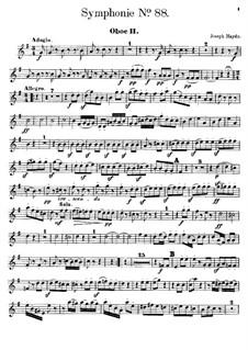 Sinfonie Nr.88 in G-Dur, Hob.I/88: Oboenstimme II by Joseph Haydn
