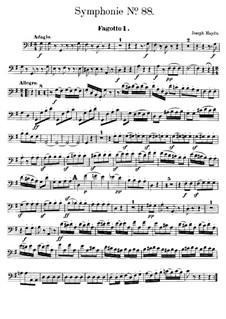 Sinfonie Nr.88 in G-Dur, Hob.I/88: Fagottstimme I by Joseph Haydn