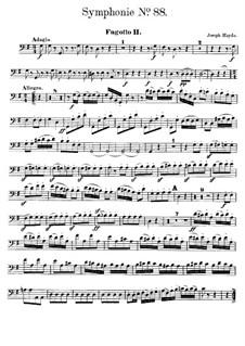 Sinfonie Nr.88 in G-Dur, Hob.I/88: Fagottstimme II by Joseph Haydn