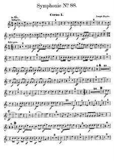Sinfonie Nr.88 in G-Dur, Hob.I/88: Hornstimme I by Joseph Haydn