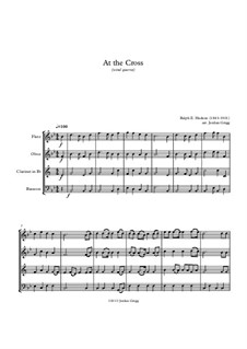 At the Cross: For wind quartet by Ralph E. Hudson