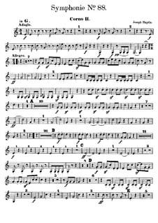 Sinfonie Nr.88 in G-Dur, Hob.I/88: Hornstimme II by Joseph Haydn