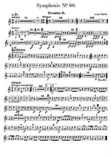 Sinfonie Nr.88 in G-Dur, Hob.I/88: Trompetenstimme II by Joseph Haydn
