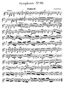 Sinfonie Nr.88 in G-Dur, Hob.I/88: Violinstimme II by Joseph Haydn