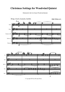 Christmas Settings: For woodwind quintet by folklore, Michael Praetorius