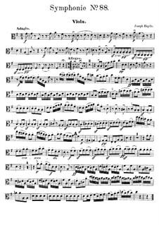 Sinfonie Nr.88 in G-Dur, Hob.I/88: Violastimme by Joseph Haydn