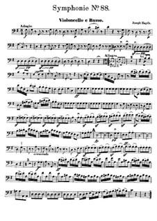 Sinfonie Nr.88 in G-Dur, Hob.I/88: Cello- und Kontrabass-Stimme by Joseph Haydn