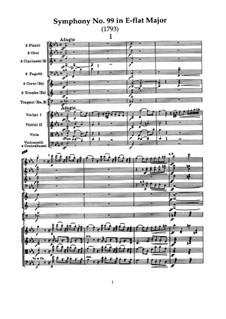 Sinfonie Nr.99 in Es-Dur, Hob.I/99: Teil I by Joseph Haydn