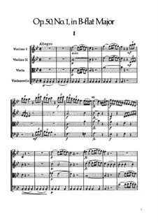Streichquartett Nr.36 in B-Dur, Hob.III/44 Op.50 No.1: Partitur by Joseph Haydn