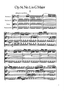 Streichquartett Nr.43 in G-Dur, Hob.III/58 Op.54 No.1: Vollpartitur by Joseph Haydn