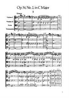 Streichquartett Nr.42 in C-Dur, Hob.III/57 Op.54 No.2: Partitur by Joseph Haydn