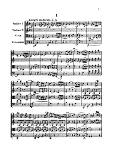 Streichquartett Nr.48 in C-Dur, Hob.III/65 Op.64 No.1: Vollpartitur by Joseph Haydn