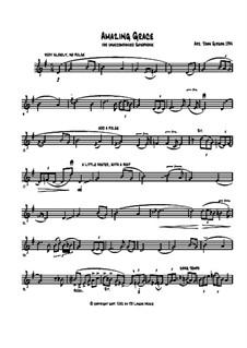 Erstaunliche Gnade, für Ein Instrument: Für Saxophon by folklore