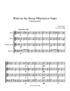 While By My Sheep: For wind quartet by folklore