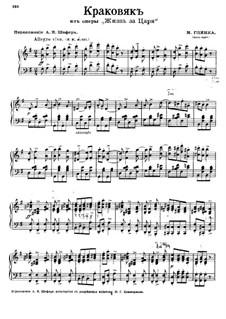 Fragmente (Alternative Versionen): Akt II, Cracovienne, für Klavier by Michail Glinka