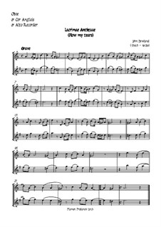 Flow My Tears (Lachrimae Antiquae): For oboe, two violins, cello and double bass – oboe part by John Dowland
