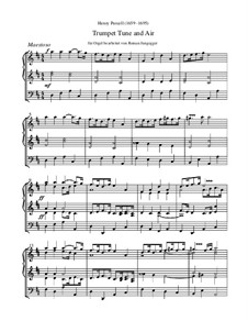 Trumpet tune and Air: Für Orgel by Henry Purcell