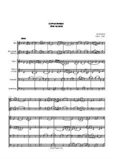 Flow My Tears (Lachrimae Antiquae): For oboe, two violins, cello and double bass by John Dowland