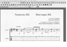 Nr.2 in Es-Dur: For guitar (with tablature) by Frédéric Chopin