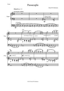 5 organ pieces: No.1 Passacaglia by David W Solomons