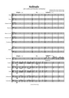 Solitude: For violin and chamber orchestra by Jordan Grigg