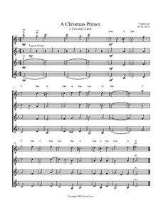 A Christmas Primer: For four guitars – score and parts by folklore, Franz Xaver Gruber, Lowell Mason, John Reading, James Lord Pierpont