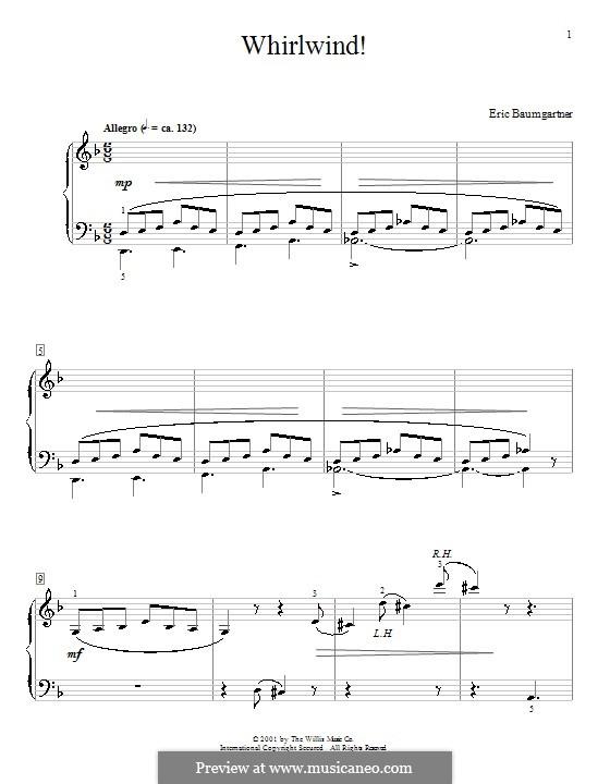 Whirlwind!: Für Klavier by Eric Baumgartner