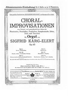 Choral-Improvisationen für Orgel, Op.65: Buch II by Sigfrid Karg-Elert