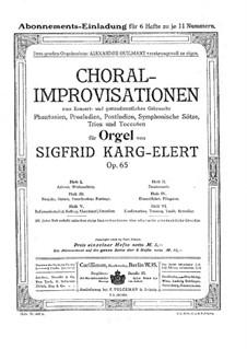 Choral-Improvisationen für Orgel, Op.65: Buch III by Sigfrid Karg-Elert