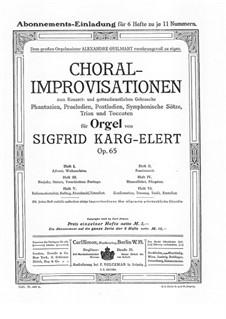Choral-Improvisationen für Orgel, Op.65: Buch V by Sigfrid Karg-Elert