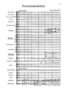 Fantasiestück für Violine und Orchester, Op.66: Vollpartitur by Hugo Kaun