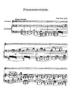 Fantasiestück für Violine und Orchester, Op.66: Partitur by Hugo Kaun