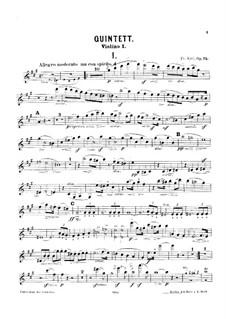 Klavierquintett Nr.1, Op.75: Streicherstimmen by Friedrich Kiel