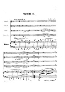 Klavierquintett No.2, Op.76: Vollpartitur by Friedrich Kiel