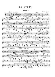 Klavierquintett No.2, Op.76: Streicherstimmen by Friedrich Kiel