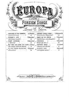 Fünf Lieder, Op.14: Nr.3 Verborgene Liebe by Halfdan Kjerulf