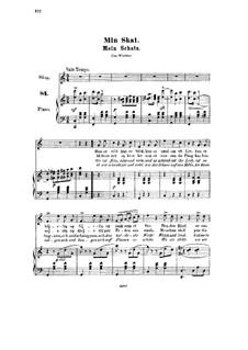 Sechs Lieder, Op.1: Nr.3 Mein Schatz by Halfdan Kjerulf