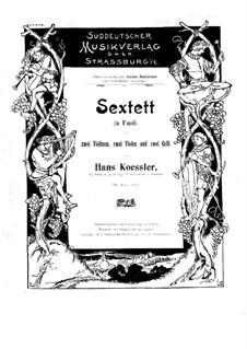 Streichsextett: Violinen I, II und Bratschentimmen I by Hans Kössler