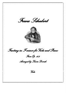 Fantasie für Klavier, vierhändig in f-Moll, D.940 Op.103: Version für Viola und Klavier by Franz Schubert