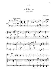 Alcido: Dove ando? Son desto, for voice and piano by Dmitri Bortnjanski