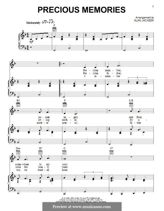 Precious Memories: Für Stimme und Klavier (oder Gitarre) by J. B. F. Wright