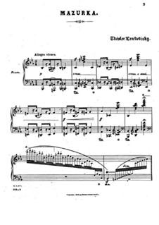 Zwei Mazurkas, Op.24: Mazurka Nr.2 by Theodor Leschetizky